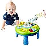 LOVOICE Baby Spieltisch Musikspielzeug Spiel Lerntisch Activity Table,Lernaktivitätstabelle Babyspielzeug Lernspielzeug Mit Klavier Pat Drum Light Up Für Kinder Ab 18 Monaten 1 Jahr