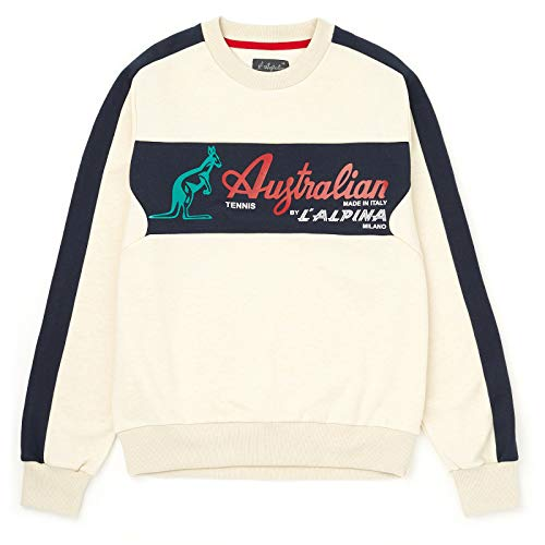 Australian Sweatshirt with Block Panel Logo