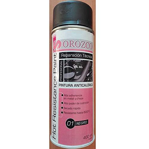 Pintura anticalorica Negro en spray 400ml.