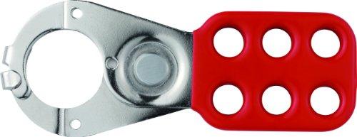 Abus H711 - Aspa de control de acero endurecido rojo con pestañas superpuestas 118x45mm