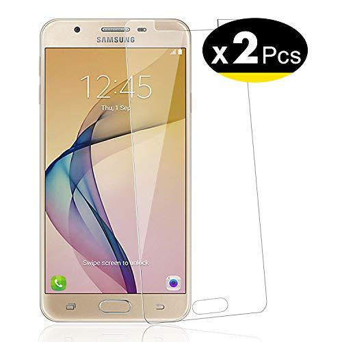 NEW'C PanzerglasFolie Schutzfolie für Samsung Galaxy J7 Prime, [2 Stück] Frei von Kratzern Fingabdrücken & Öl, 9H Festigkeit, HD Bildschirmschutzfolie, Bildschirmschutzfolie Samsung Galaxy J7 Prime