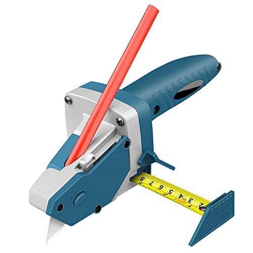 Bliev Gipskarton-Schneidewerkzeug, Trockenbau-Putz mit Skala, Holzbearbeitung, Schneidebrett, Werkzeug, All-in-One-Handwerkzeug mit Maßband und Allzweckmesser