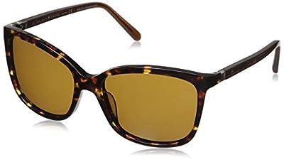 Kate Spade New York Women's Kasie Square Sunglasses, Havana Brown/Brown Polarized, 54 mm