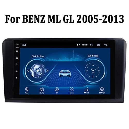 MonLG Auto GPS, Eingebaute 9-Zoll-Offline-Karte, Android 9-Autoradio-Multimedia-Player für Mercedes Benz ML GL 2005-2013, mit Bluetooth-Freisprecheinrichtung,4g+WiFi 1g+32g
