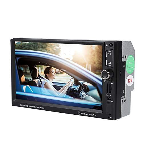 Double Din Autoradio Bluetooth Voiture 7 Pouces HD Lecteur Vidéo Multimédia MP5 Supports HD 1080P/ Inversion d'images/Mains Libres Bluetooth/GPS/USB/TF/AUX