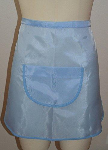 Tabliers (X2 Pièces soit 3.20€ à l'unité hors livraison) de Cuisine Ménage Uni Coloris Bleu avec Poche. Fabriqué en Belgique
