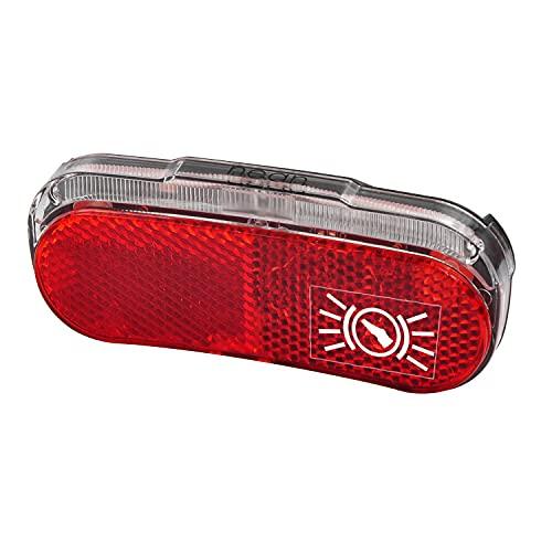 nean Fahrrad LED Dynamo Rückleuchte mit Bremsanzeige, Reflektor, Standlicht und StVZO-Zulassung, 5 Candela Rückstrahler, Rücklicht mit Bremslicht, rot