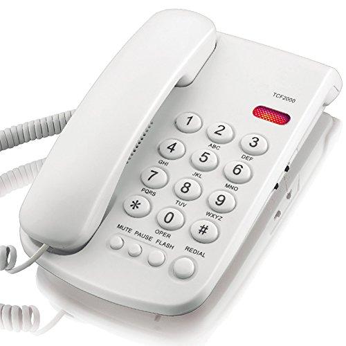 KerLiTar K-P041 Basic Corded Phone with Redial Mute Function Landline Telephone(White)