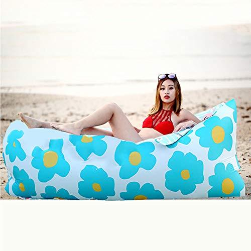EWBF Ultralichte draagbare slaapzak met luchtige luchtbed, zonder pomp, draagbaar buiten, licht kamperen, zonnebaden op vakantie, wandelen en reizen