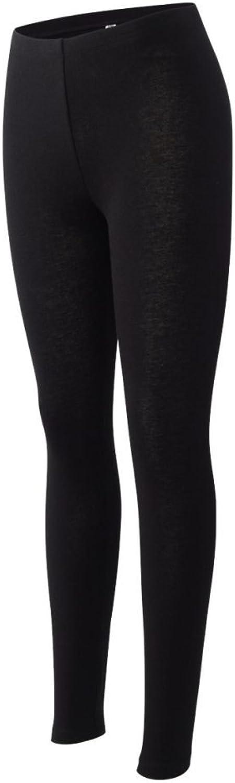 Bella 812 Ladies' 5.3 oz. Cotton Spandex Jersey Legging  Black 812 Large