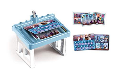 Clementoni - 16231 - Sapientino Tavolino - Disney Frozen 2, tavolo con giochi educativi, schede attività e penna interattiva - gioco educativo 3 anni - Made in Italy