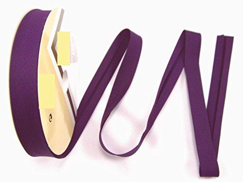 Schrägband, Elastisch, 18mm, Kanten-band, elastic, nähen, Meterware, 1meter (lila dunkel)