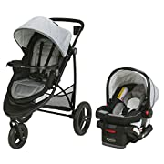 Graco Modes 3 Essentials LX Travel System | Includes Modes 3 Essentials LX Stroller and SnugRide SnugLock 30 Infant Car Seat, Mullaly