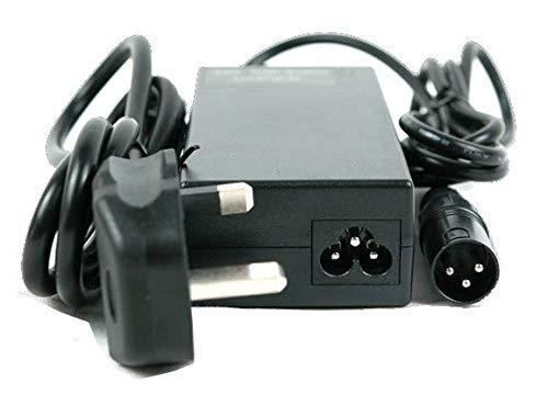 SLK Power Cargador de batería de 24 V 2 A para baterías recargables y sillas de ruedas. Conector de 3 pines apto para todas las baterías de plomo ácido selladas incluyendo AGM y gel