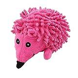 M I A Mascotas Squeaky Toy Cartonn Plush Dog Toy Juguete de masticación en forma de erizo Juguete interactivo para perros (color rosa