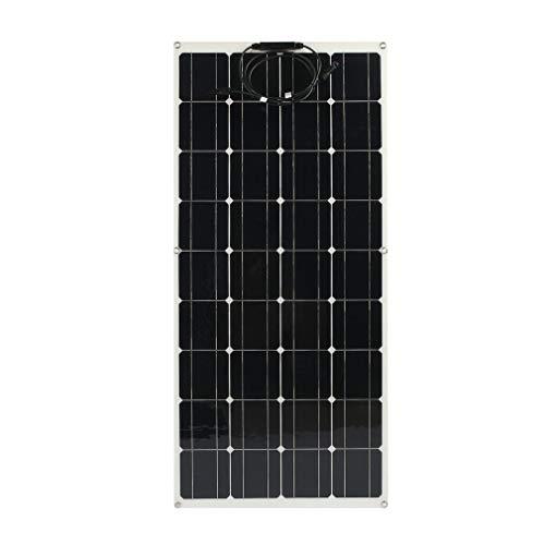 ROXTAK 160W Hochwertiges Monokristallines Solarpanel, 12V Solarmodul, flexibles, Profi Solarpanel Mono Solarzelle Photovoltaik ideal für Wohnmobil, Gartenhäuse, Boot…