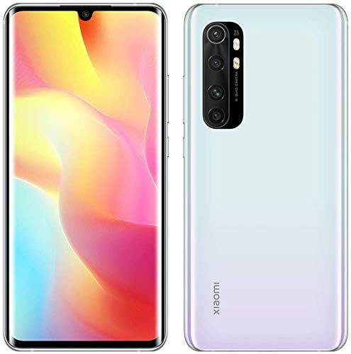 "Xiaomi Mi Note 10 Lite - Smartphone de 6.47"" (Pantalla curvada AMOLED 3D, 6 GB RAM, 64 GB ROM, cámara Quad de 64 MP, batería de 5260 mAh) Glacier White [International Version]"