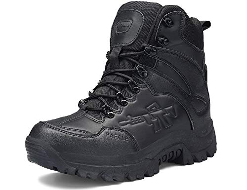 SINOES Stiefel Herren Wanderschuhe Damen Trekkingschuhe Armee Combat Tactical Boots Verschleißfest rutschfeste Outdoor Einsatzstiefel Für Maenner Frauen