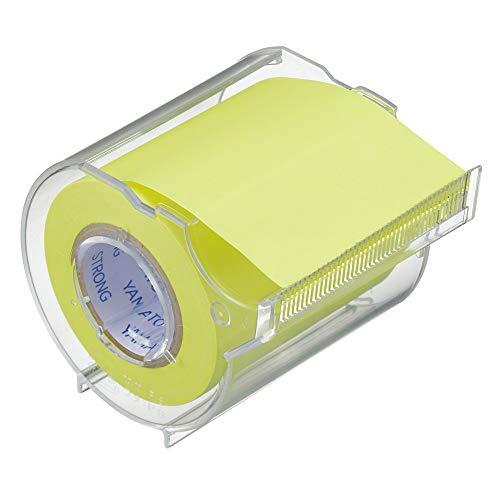 ヤマト 付箋 メモック ロールテープ 強粘着 カッター付き 50mm×10m PRK-50CH-LE カッター/レモン