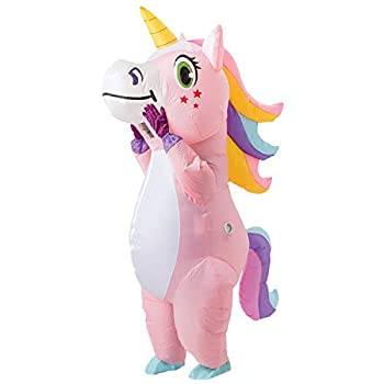 Spooktacular Creations Full Body Unicorn Inflatable Costume Adult  Pink