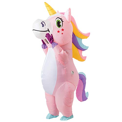 Spooktacular Creations Full Body Unicorn Inflatable Costume Adult (Pink)