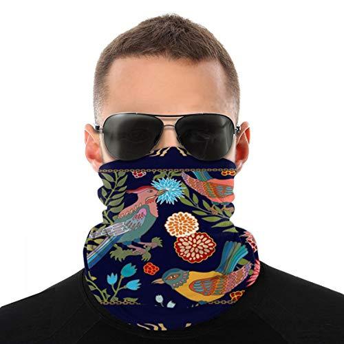 Patrón de bufanda de seda Flores Hojas de sauce Cubierta de bufanda facial Deporte al aire libre Correr Mujeres Hombres Cubierta facial Variedad Toalla facial Diadema para el cuello
