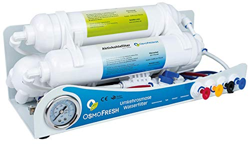 OsmoFresh Osmoseanlage Smartline Gold 100 GPD | Umkehrosmose Wasserfilter bis zu 380L Tagesleistung Direct Flow Frischwasser | Aquaristik | Meeresaquaristik