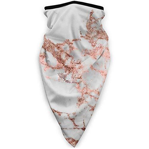 YUYT Elegante Mármol Blanco Rosa Dorado Brillo Impreso Magic Headwear Unisex Variedad Bufanda Abrigo Pañuelo Sombreros Cuello Polainas Bufanda Cara Máscaras solares