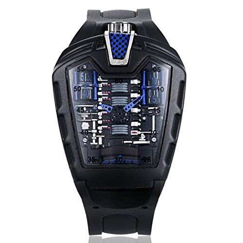 Herren Uhren 30M Wasserdichtes, Unisex Analog Quarz Uhr mit Silikon Armband,Blau