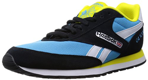 Reebok GL 1200, Herren Sneakers, Mehrfarbig (Black/Blue Beam/White/Bright Yellow), EU 39 (UK 6 / US 7)
