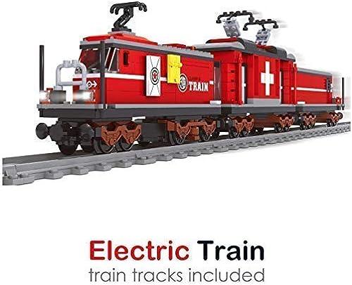 exclusivo Ingenious Toys Suizos rojo Locomotora Set Set Set Completar con Circular Track   529pcs Set Construcción  B5826  Ahorre 60% de descuento y envío rápido a todo el mundo.
