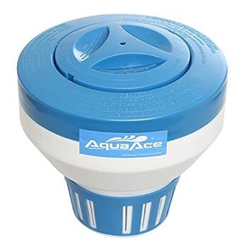 AquaAce Pool Chlorine Floater Dispenser Premium Classic Floating Design for 3 inch Chlorine Tablets