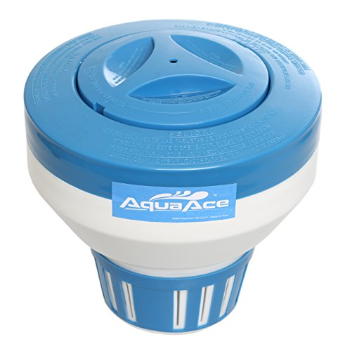 AquaAce Pool Chlorine Floater Dispenser, Premium Classic Floating Design for 3 inch Chlorine Tablets