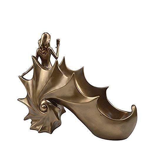 CAIJINJIN estante del vino Arte decoraciones arte hecho a mano escultura de resina de cobre fundido fría estatua de alto grado escultura estante del vino del chocolate Almacenamiento