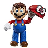 World of Nintendo 4' Mario Odyssey Action Figure with Hat Action Figure