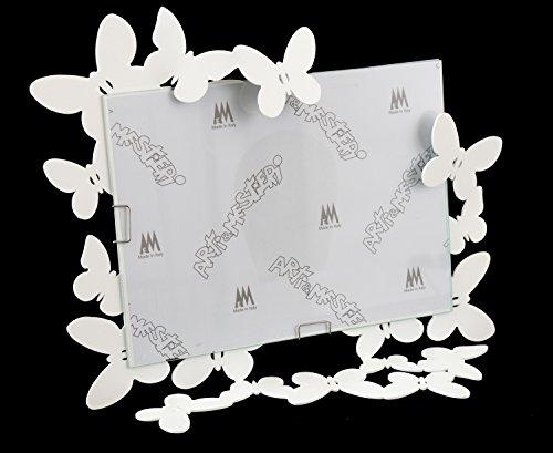 ARTI E MESTIERI - Cornice Portafoto 'Butterfly' orizzontale bianca - 22X27H(15X20H)