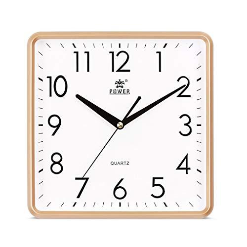 JFya Silencioso Reloj de Pared de Cuarzo, 7 Pulgadas, Sala de Estar, Dormitorio, Reloj IKEA Simple y Genuino. (Color : A)