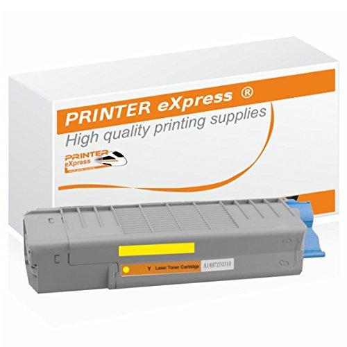 Printer-eXpress Toner ersetzt Oki 46490605, 46490401 für Oki C-532, C-532DN, C-542, C-542DN, MC-563, MC-563DN, MC-573, MC-573DN Drucker mit 6.000 Seiten gelb