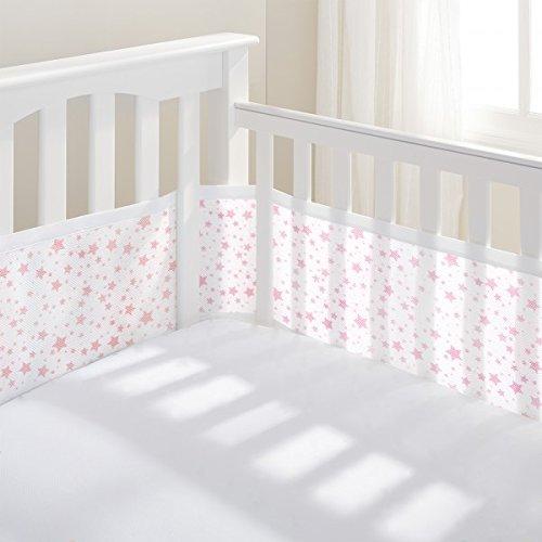 Luftdurchlässiges Babynest, Rosa Sterne