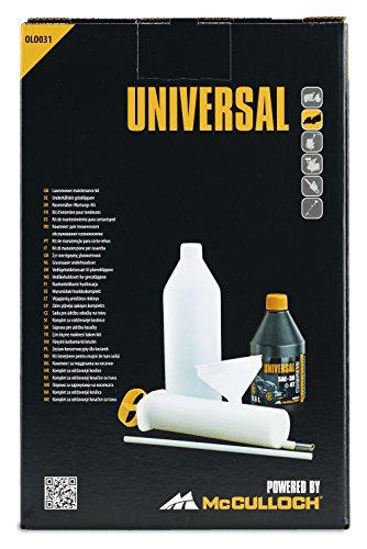 Universal Kit Servicio para cortacésped OLO031 el Juego de Mantenimiento para Motores de Gasolina Contiene Aceite de 4 Tiempos, jeringa de succión, Embudo y Botella, Standard