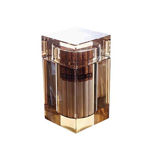 Cenicero para Exterior e Interior Cenicero de vidrio con tapa para la tapa de la mesa de café Decoración de escritorio de oficina Cenicero transparente 4.33 pulgadas Regalo de amigas para Hogar Oficin