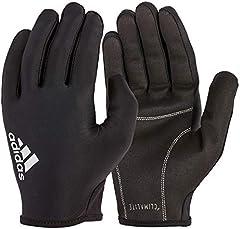 adidas Full Finger Essential Guantes de Fitness, Adultos Unisex, Negro / Blanco, M-19-20 cm Alrededor de la Palma