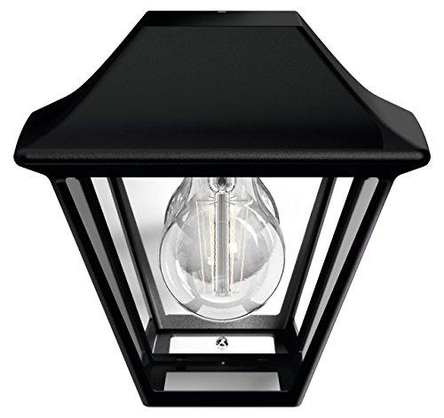Philips myGarden Alpenglow - Lámpara de pared de 42 W, iluminación exterior, bombilla no incluida, casquillo E27, aluminio, color negro