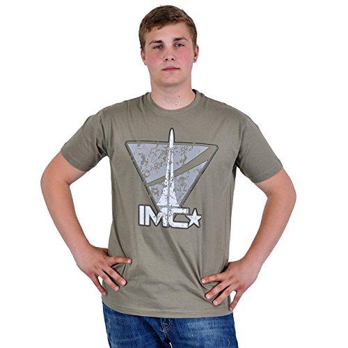 Level Up Wear IMC Vintage Logo T-Shirt, Marron-Brown (Zinc), XX-Large Homme
