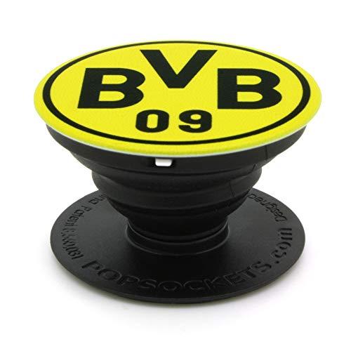 Popsockets grip im BVB Design Halterung, Schwarz-gelb