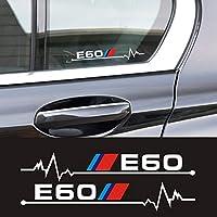 10 セット車の窓バックミラーステッカー bmw E30 E34 E36 E39 E46 E60 E61 E87 E90 E83 F10 f20 F30 カースタイリングアクセサリー-WHITE, 20cm, E60