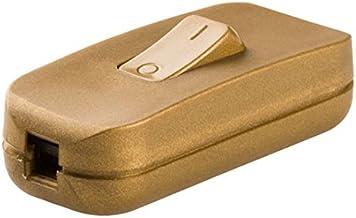 Legran 040193E kruisschakelaar voor lamp, 250 V, goudkleurig