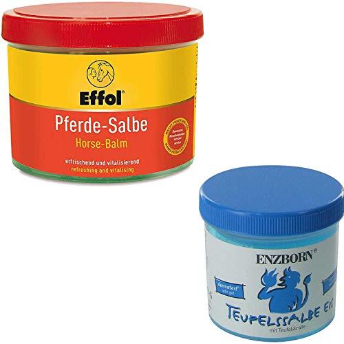 Effol Pferdesalbe 500 ml + Teufelssalbe EIS 200 ml Massagen Set