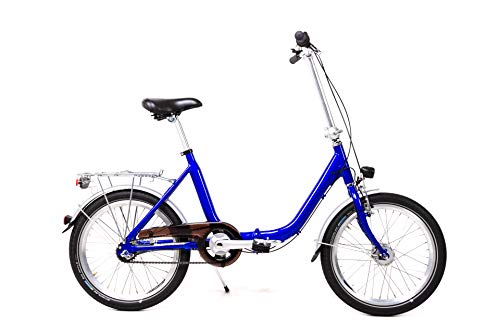 20 Zoll Alu Klapp Rad Falt Fahrrad Folding Bike Shimano 7 Gang Nabendynamo Blau