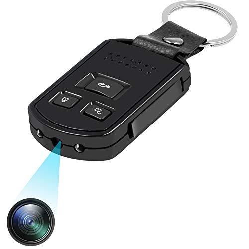 UYIKOO - Portachiavi con fotocamera piccola e videocamera HD, 1080P, rilevamento di movimento, sicurezza domestica Nanny Cam